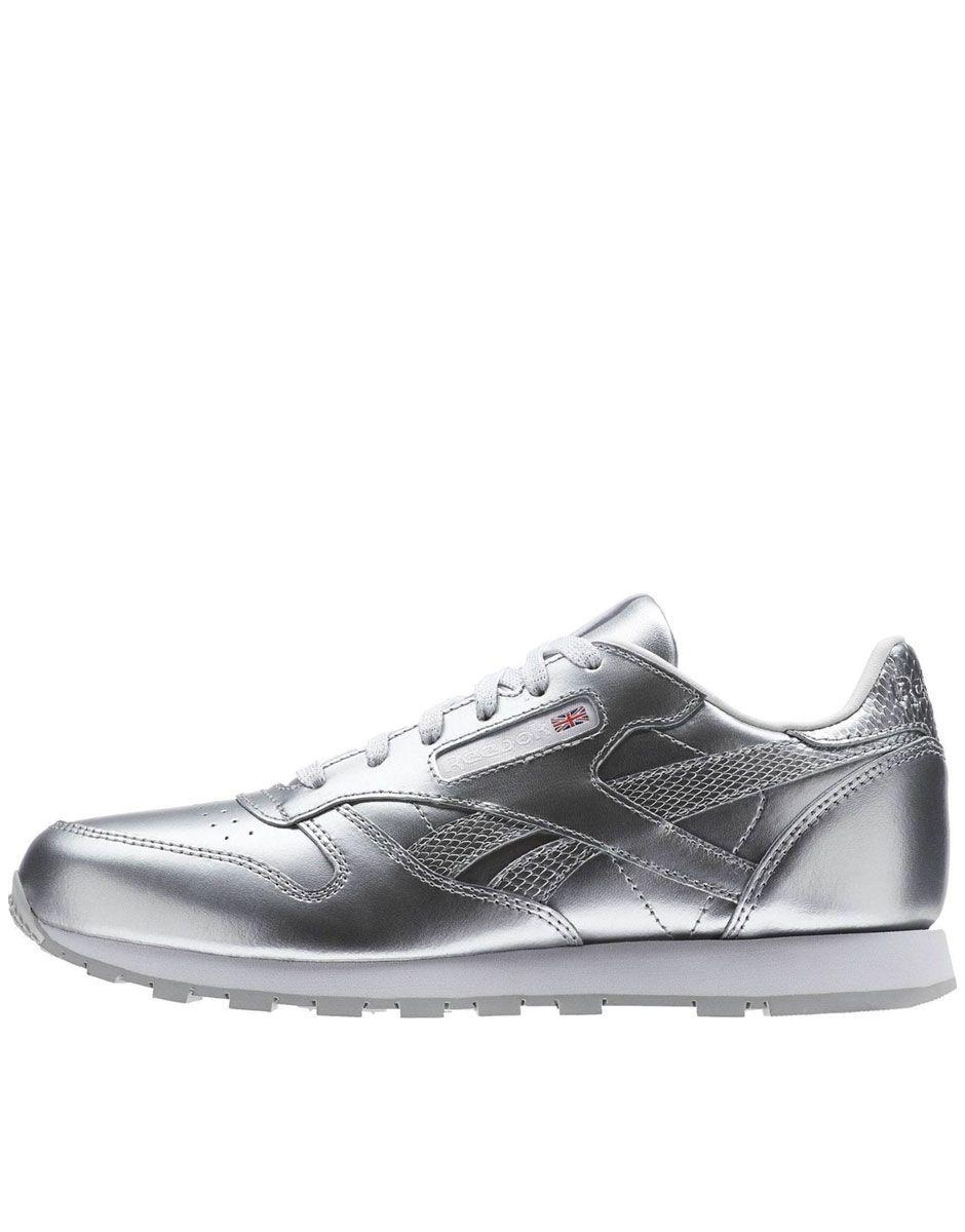 7d868689ded4 REEBOK Classic Leather Metallic Silver - Обувки - Жени