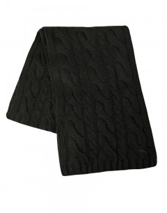 PUMA Dave Cable Knit Scarf Black
