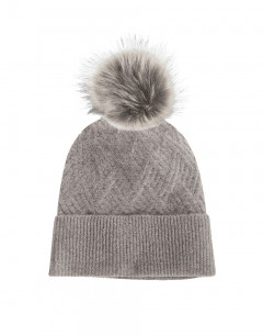 PIECES Sarika Hat Medium Grey Melange