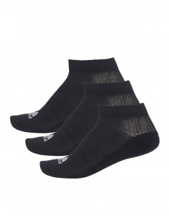 ADIDAS 3 Stripes No-Show Socks 3 Pairs Black