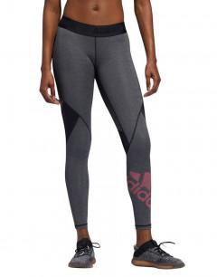 ADIDAS Alphaskin Badge Of Sport Leggings Grey
