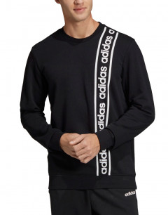 ADIDAS Branded Crew Sweatshirt Black