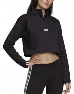 ADIDAS Cropped Sweatshirt Black