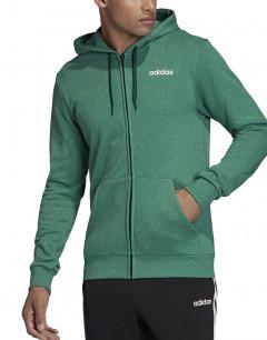 ADIDAS Essentials Linear FZ French Terry M Sweatshirt Green
