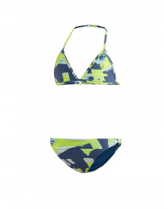 ADIDAS Girls Allover Print Swim Suit Multi