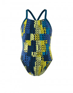 ADIDAS Girls Pro Light Graphic Swim Suit Multi