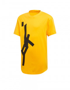 ADIDAS Graphic Printed Tee Yellow