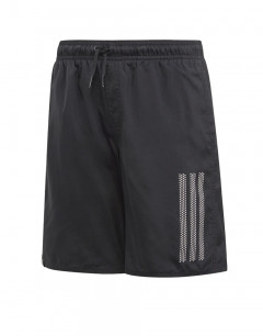 ADIDAS Kids 3-Stripes Swim Shorts Black