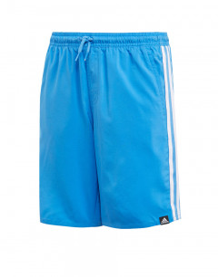 ADIDAS Kids 3-Stripes Swim Shorts Blue