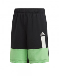 ADIDAS Kids Colour Block Shorts Black