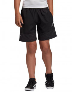 ADIDAS Kids Run Woven Shorts Black