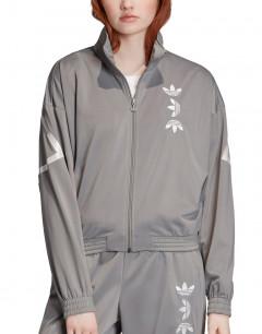 ADIDAS Large Logo Track Jacket Charcoal Solid Grey/White