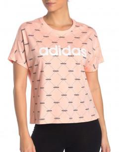 ADIDAS Linear Graphic Tee Glow Pink
