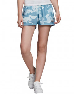 ADIDAS Logo Camo Shorts Blue/White