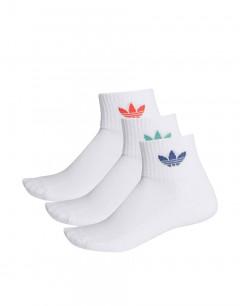 ADIDAS Mid Cut Crew Socks 3 Pairs White