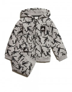 ADIDAS Mini Me Id Hooded Jogger Set Grey