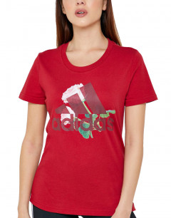 ADIDAS Must Haves Flower Tee Red
