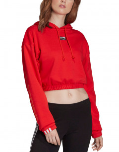 ADIDAS Originals Cropped Hoodie Red