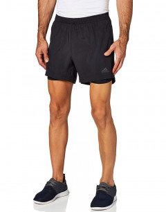 ADIDAS Own the Run 2-in-1 Shorts Black