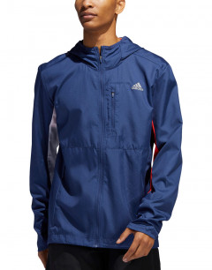 ADIDAS Own the Run Hooded Wind Jacket Ind/White