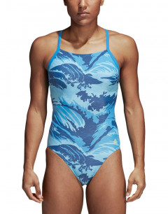ADIDAS Parley Allover Print Infinitex Swim Suit Blue