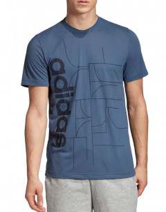 ADIDAS Playera Allover Print Ink