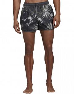 ADIDAS Split AOP Swim Shorts Black