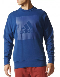 ADIDAS Sports ID Branded Crew Sweater Blue
