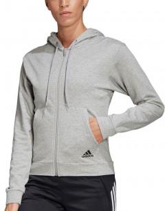 ADIDAS Stacked Logo Full Zip Hoodie Grey