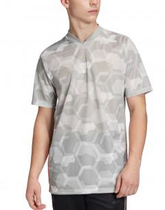ADIDAS Tan Tech Graphic Jersey Grey Two