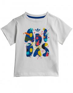 ADIDAS Originals Abstract Logo Kids Tee White