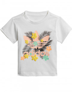 ADIDAS Originals Flowers Trefoil Logo Kids Tee White