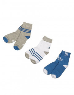 ADIDAS Thin Crew Socks 3 Pairs Boys