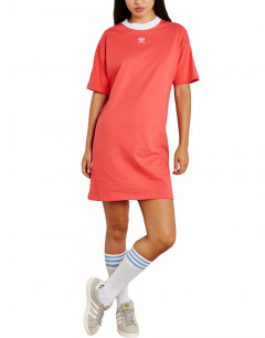 ADIDAS Originals Trefoil Cotton Dress Orange