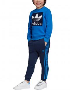 ADIDAS Trefoil Logo Sweatshirt Set Blue