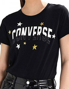 CONVERSE Essentials Metallic Star Tee Black