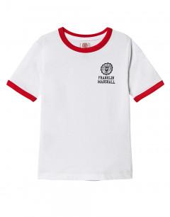 FRANKLIN AND MARSHALL Retro Logo Ringer White