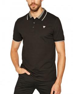 GUESS Cotton Polo Tee Black