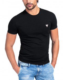 GUESS Crew Neck Fit Tee Black