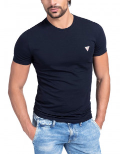 GUESS Crew Neck Fit Tee Navy