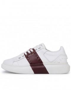 GUESS Salerno II Sneakers White Bordo