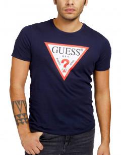 GUESS Triangle Logo Tee Blue