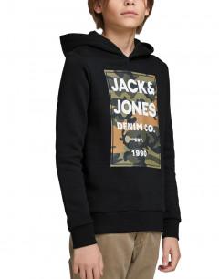 JACK&JONES Boys Logo Hoodie Black