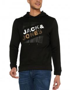 JACK&JONES Brushed Loopback Hoodie Black