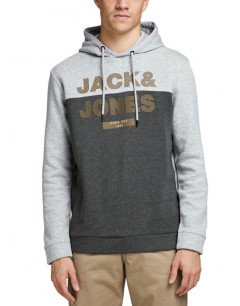 JACK&JONES Brushed Loopback Hoodie Light Grey Melange