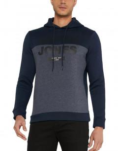 JACK&JONES Brushed Loopback Hoodie Navy Blazer
