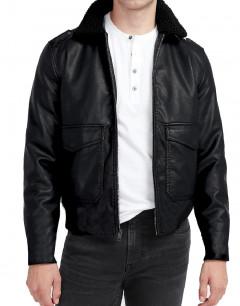 JACK&JONES Cruise Leather Jacket Black