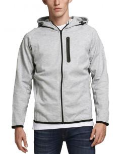 JACK&JONES Fleece Zip Hoodie Light Grey Melange