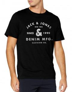 JACK&JONES Front Logo Tee Black