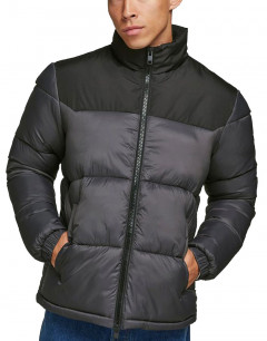 JACK&JONES High Collar Puffer Jacket Black